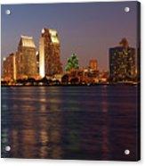 Twilight On San Diego Harbor Acrylic Print