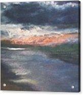 Twilight On The Canal Acrylic Print