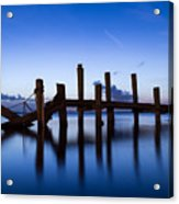 Twilight Piers Acrylic Print