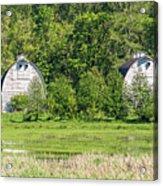 Twin Barns In Spring Acrylic Print