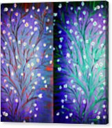 Twin Beauty-2 Acrylic Print by Karunita Kapoor