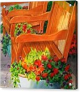 Twin Benches Acrylic Print