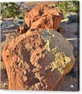 Twin Boulders Acrylic Print