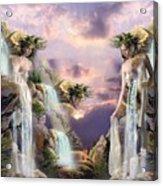 Twin Falls Acrylic Print