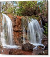 Twin Falls At Ironstone Gully Acrylic Print
