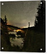 Twin Lakes Night Panorama Acrylic Print