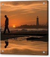 Twin Lakes Sunset Reflected Acrylic Print