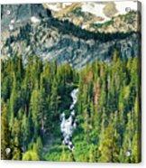 Twin Lakes Waterfall Acrylic Print