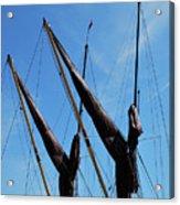 Twin Mast Acrylic Print by Terence Davis