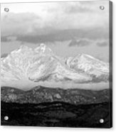 Twin Peaks Black And White Panorama Acrylic Print