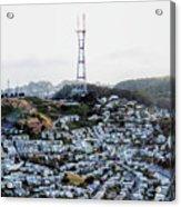 Twin Peaks In San Francisco Aerial Photo Acrylic Print