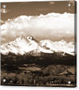 Twin Peaks In Sepia  Acrylic Print
