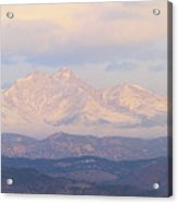 Twin Peaks Meeker And Longs Peak Panorama Color Image Acrylic Print by James BO  Insogna