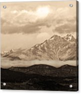Twin Peaks Sepia Panorama Acrylic Print