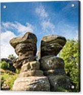 Twin Rocks At Brimham Acrylic Print