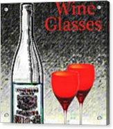 Twink Wine Glasses Acrylic Print