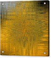 Twirl Art Yellow  Acrylic Print