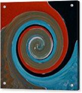 Twirl Red 01 Acrylic Print