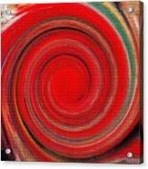 Twirl Red-0951 Acrylic Print