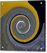 Twirl Yellow  Acrylic Print