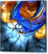 Twisted Spiral Abstract Acrylic Print