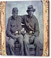 Two African American Soldiers Wearing Acrylic Print by Everett
