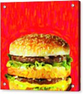 Two All Beef Patties Acrylic Print