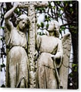 Two Angels With Cross Acrylic Print