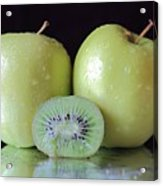 Two Apples And A Kiwi Acrylic Print