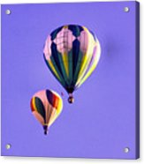 Two Balloons In The Clear Blue Sky  Acrylic Print