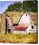 Two Barns And A Silo Acrylic Print