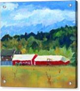 Two Barns Acrylic Print