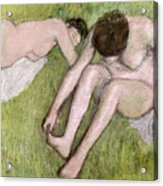 Two Bathers On The Grass Acrylic Print
