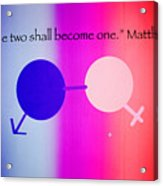 Two Become One Acrylic Print by Raul Diaz