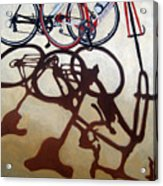 Two Bicycles Acrylic Print by Linda Apple