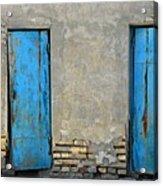 Two Blue Doors   Bukhara Acrylic Print