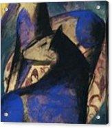 Two Blue Horses 1913 Acrylic Print