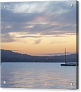 Two Boats In Blue Holywood Acrylic Print