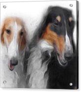 Two Borzois No 01 Acrylic Print