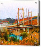 Two Bridges In The Backyard Acrylic Print