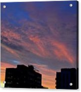 Two Buildings And Sky  Acrylic Print