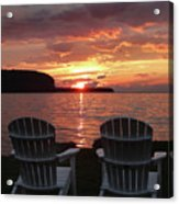 Two Chair Sunset Acrylic Print