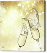 Toast Champagne Glasses Acrylic Print