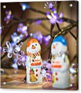 Two Chocolate Snowmen 2 Acrylic Print
