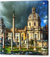 Two Churches And Columns Acrylic Print