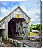 Two Covered Bridges Of St. Martins Acrylic Print