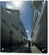 Two Cruise Ships On Either Side Acrylic Print