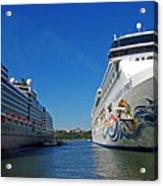 Two Cruise Ships Acrylic Print