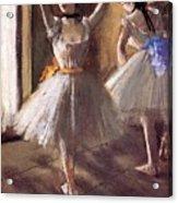 Two Dancers In The Studio Dance School Acrylic Print