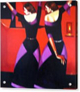 Two Dancers With Candlelight Acrylic Print